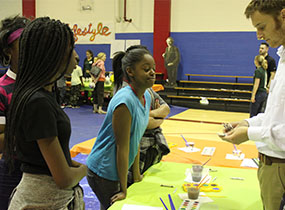 Kids at Kiwanis STEM fair